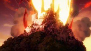 めぐみんの爆裂魔法を受け続ける廃城