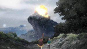 雪の日に廃城に爆裂魔法を放つめぐみん
