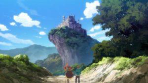 廃城を見つけためぐみんとカズマ