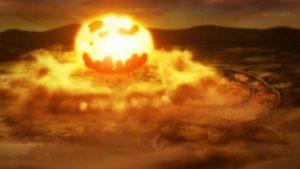デストロイヤーにエクスプロージョンが当たり爆発