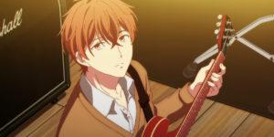 ギターを弾く柊