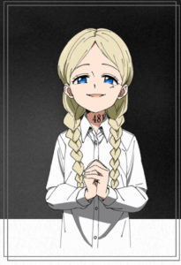 アニメ版手を組むアンナ