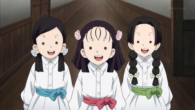 蝶屋敷の三人娘が笑っている画像