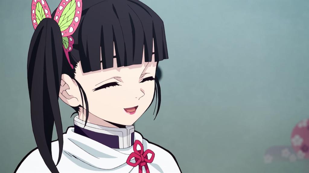 微笑む栗花落カナヲ
